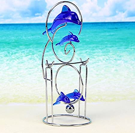 G&YI Blue Dolphin Newton Manuale Swinger Office Home Swinger Decoration Crafts, 1