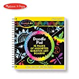Melissa & Doug Scratch Art Doodle Pad Book, Arts & Crafts, Mini Stylus Included, Easy to Use, 16 Spiral-Bound Pages, 13.97 cm H x 13.97 cm W x 1.905 cm L
