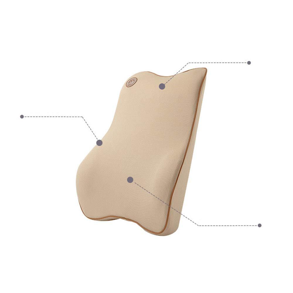 Ecloud Shop/® Soporte Lumbar Coj/ín Espuma de Memoria Premium para autom/óvil Beige dise/ño ergon/ómico Asiento Universal para autom/óvil con Ajuste Universal