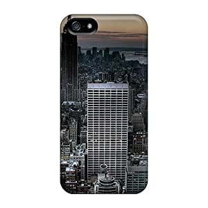 For ConnieJCole Iphone Protective Case, High Quality For Iphone 5/5s Empire State Building At Dusk Skin Case Cover