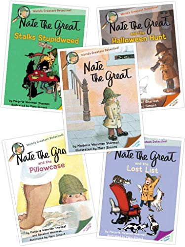 Nate the Great Series: Nate the Great and the Halloween Hunt; Nate the Great and the Lost List; Nate the Great Stalks Stupidweed; Nate the Great & the Pillowcase -
