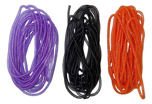 Deco Mesh Tubing (3 Packs, Purple, Black, Orange)