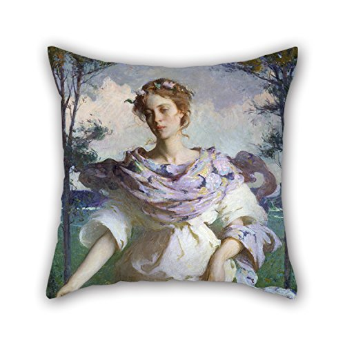 Loveloveu Throw Pillow Covers 20 X 20 Inches / 50 By 50 Cm(both Sides) Nice Choice For Relatives,teens,monther,sofa,father,christmas Oil Painting Frank W. Benson - Summer (Benson Sofa)