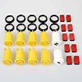 EG Starts 8x Yellow + 1 Player 2Player American Style Arcade Push Buttons With Micro Switch For Video Game Machine Parts Mame Jamma Games