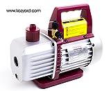 Kozyvacu, 3.5 CFM Single-Stage Rotary Vane Economy Vacuum Pump (3.5CFM, 5Pa, 1/4HP) Air Conditioner Refrigerant Recharging, HVAC/AUTO AC tool R134a R410a Wine Degassing, Vacuum Pump for Milking