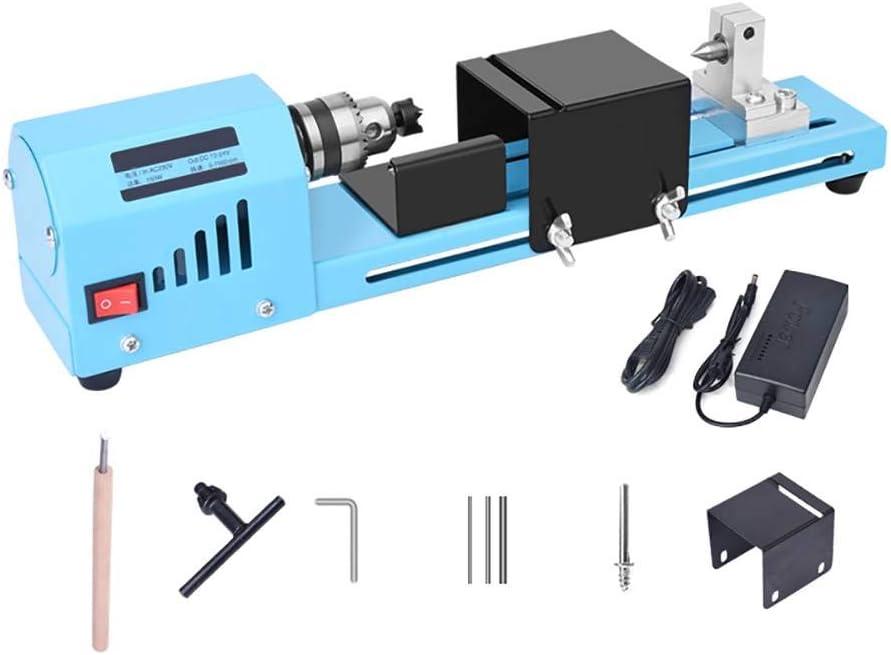 Aesy Mini Torno De Madera, Perlas de Pulido y Pulido de la Máquina Bricolaje Carpintería Buda Perla Torno, DC 12-24V 150W
