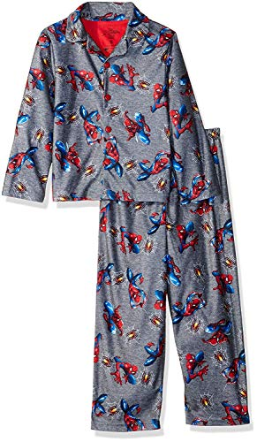 Marvel Boys' Little Spiderman 2-Piece Pajama Coat Set, Hanging Around, 6