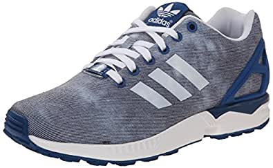 adidas Originals Women's ZX Flux W Lace-Up Fashion Sneaker, Dark Marine/White/Dark Marine, 10.5 M US