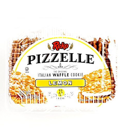 Reko Lemon Pizzelle Cookies 5.25 oz each (1 Item Per Order)