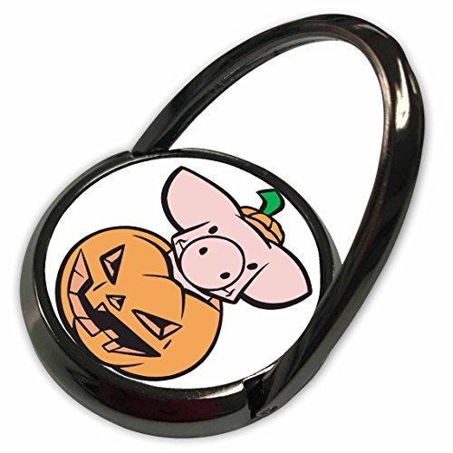 3dRose Blonde Designs Happy and Haunted Halloween - Halloween Piglet in Pumpkin - Phone Ring (Halloween Piglet)