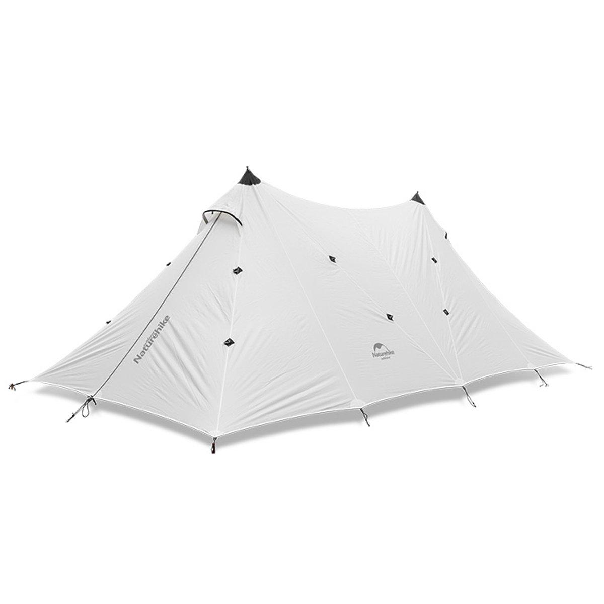 tentock多目的シリコン防雨Twin Peaks LARGEキャノピーforアウトドアサンシェードキャンプテントShelter B077GC7LCP  ホワイト
