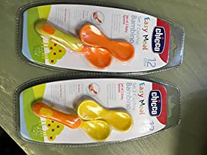 Chicco SET OF 2 BABY SPOONS 12M+ 8003670845140