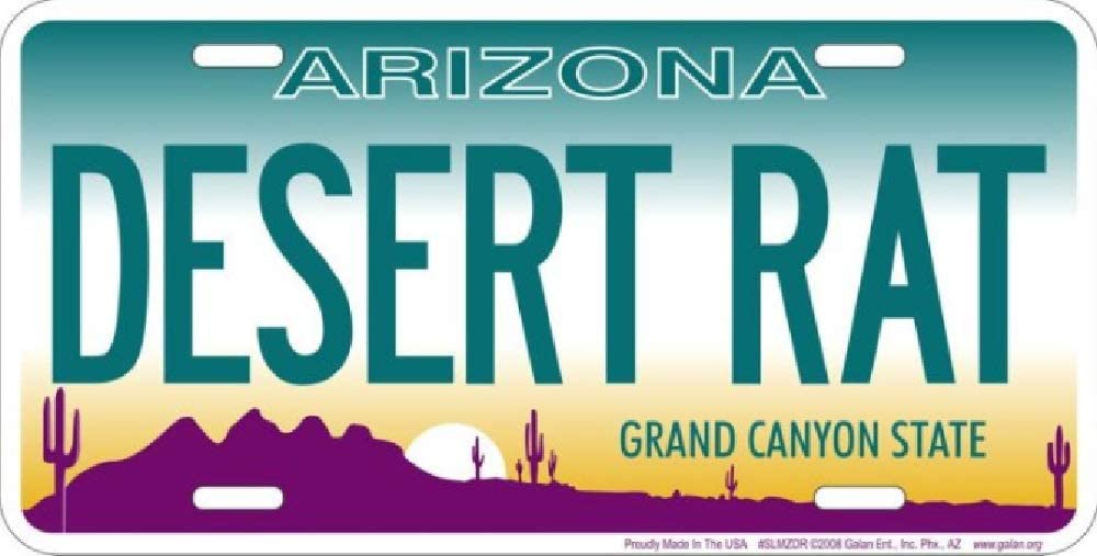 Signs 4 Fun Arizona Desert Rat License Plate