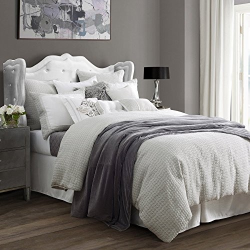 HiEnd Accents Wilshire Light Grey Super Queen Comforter Set