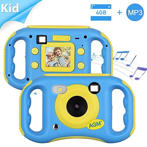 AGM Kids Camera for Girls & Boys, 1.77Inch Children Video Recorder Toddler Digital Camera,Creative Birthday Children's Day Gifts (Blue)