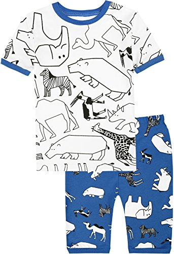 Boys Animals Pajamas Toddler Cartoon Dinosaur Clothes Children 100% Cotton Size 3 Years