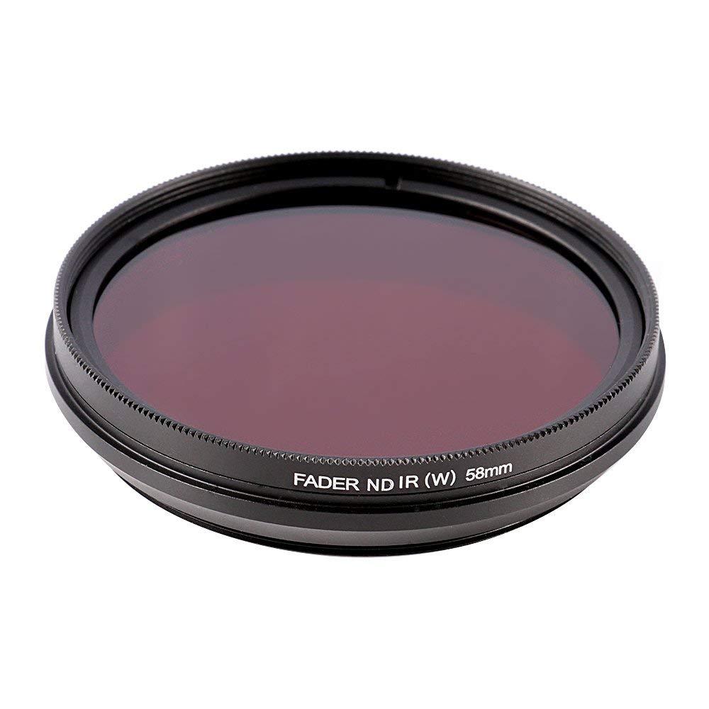 Runshuangyu 58mm 6 in 1 Infrared IR Pass X-Ray Lens Filter, Adjustable 530nm to 750nm Screw-in Filter for Canon Nikon Sony Panasonic Fuji Kodak DSLR Camera by Runshuangyu