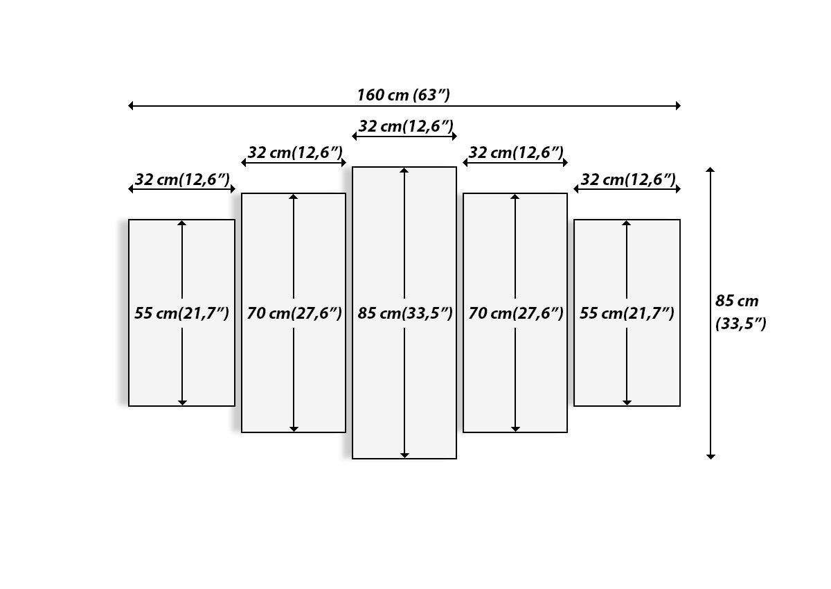 Bild auf Leinwand Leinwand Leinwand - Leinwandbilder - fünf Teile - Breite  160cm, Höhe  85cm - Bildnummer 2846 - fünfteilig - mehrteilig - zum Aufhängen bereit - Bilder - Kunstdruck - EA160x85-2846 c0b8a5
