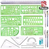 Hilitchi 16 Pcs Pack Plastic Measuring Templates