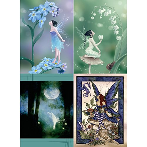 Tree-Free Greetings Forget-Me-Not Fairy All Occasion Card Assortment, 5 x 7 Inches, 8 Cards and Envelopes per Set (GA31444) ()