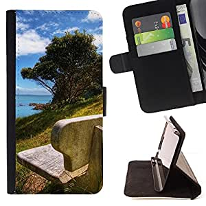 DEVIL CASE - FOR Samsung Galaxy S4 IV I9500 - Nature Beautiful Forrest Green 178 - Style PU Leather Case Wallet Flip Stand Flap Closure Cover