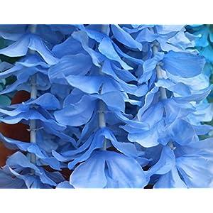 hilingo 3.2 Feet X10Pcs Artifiical Silk Wisteria Flowers Fake Vine for Wedding and Parties Decor 68