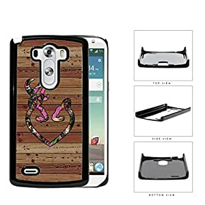 Pink HEART Deer Buck Browning Camo Oak BROWN Color Wood #9 LG G3 VS985 Hard Snap on Plastic Cell Phone Case Cover by Maris's Diary
