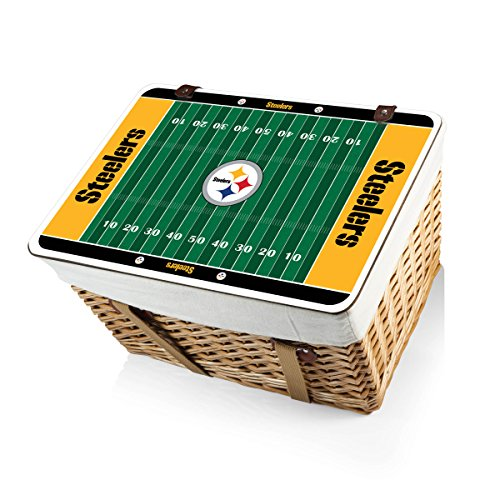 NFL Pittsburgh Steelers Canasta Grande Willow Picnic Basket