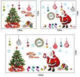 Aiweasi Removable Mural Art Christmas Gift Glass Decoration Santa Wall Sticker Christmas Shop Cabinet Decoration