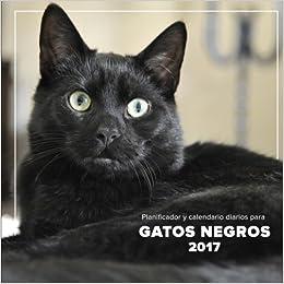 Planificador y calendario diarios para gatos negros 2017 (Spanish Edition): Phactory Press: 9781541187078: Amazon.com: Books