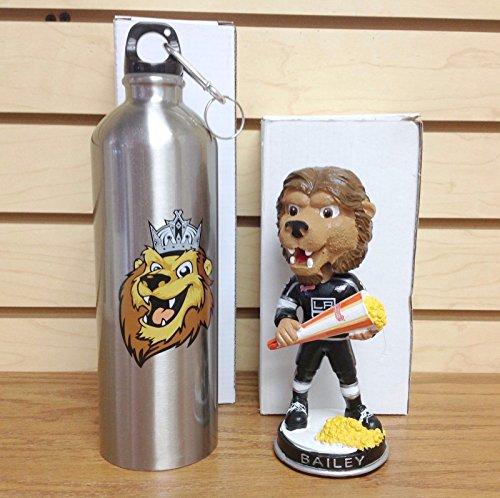 Bailey the Mascot BOBBLING POPCORN LA Los Angeles Kings PROMO Bobblehead SGA w/ Water Bottle