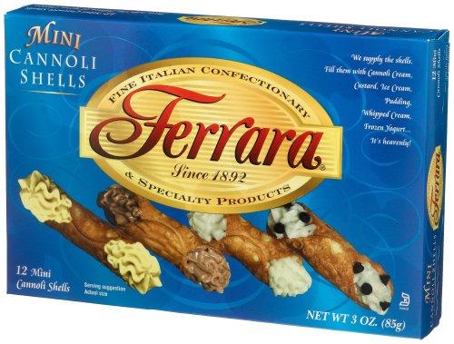 Mini Cannoli Shells - Ferrara Mini Cannoli Shells, 12-Count, 3 Ounce Boxes (Pack of 12)