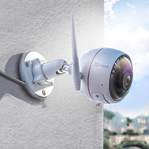EZVIZ C3W Wifi خارجي 1080p HD كاميرا مراقبة ضوء وصفارة IP66 مقاومة للطقس رؤية ليلية 2.4 جيجا واي فاي/سلكي ثنائي الاتجاه وعدسة 2.8 مم من EZVIZ C3W Wifi
