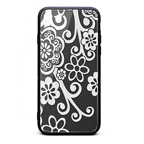 Phonerebey iPhone 7/8 Case,Black and White Flower Anti-Scratch