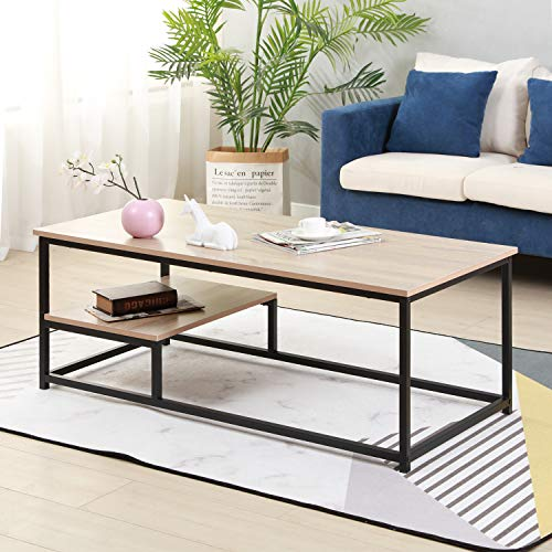 Soges Coffee Table with Shevles 47.2