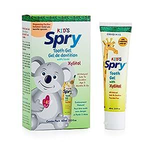 Xlear Inc (Xclear), Spry Niños, Gel Dental, con xilitol, Paquete combo, 2.0 fl oz (60 ml)