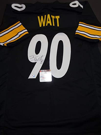 detailing d2e2f cbac1 TJ Watt Pittsburgh Steelers signed autographed Jersey at ...