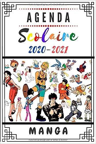 Calendrier Manga 2021 Agenda scolaire 2020 2021 Manga: Agenda manga 2020 2021