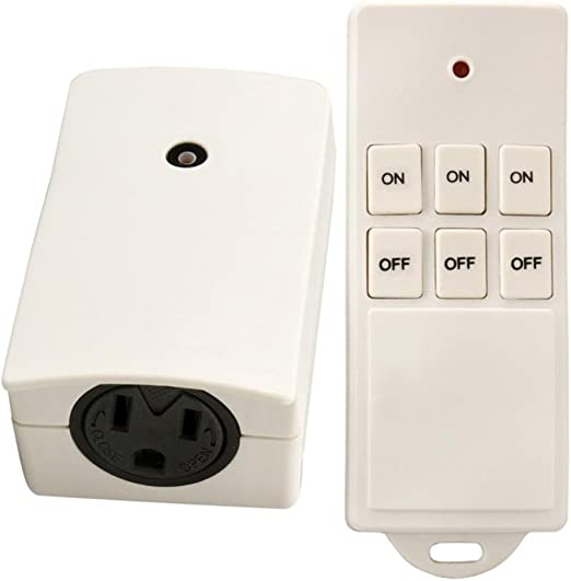 Woods 59743WD Indoor Plug-In Wireless Remote Control, 1 Grounded Outlet - Electrical Outlet Switches - Amazon.com