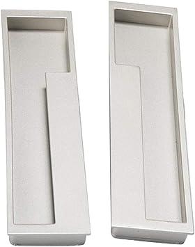 1 Paio Per Montaggio A Filo Dito Tira Maniglie Da Incasso Hardware Del Mobile Per Il Cassetto Della Porta Dellarmadio Da Cucina Di Casa Argento sabbia