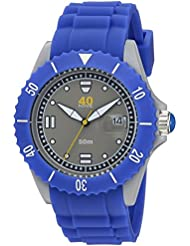 40Nine Quartz Plastic and Silicone Casual Watch, Color:Blue (Model: 40NINE02/PERI20)