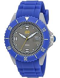 Quartz Plastic and Silicone Casual Watch, Color:Blue (Model: 40NINE02/PERI20)