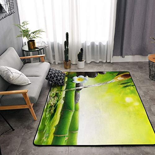 Bedroom Livingroom Sitting-Room Big Size Kitchen Rugs Home Decor - Asian Zen Garden Orchid Candle Stone Bamboo Zen Floor Mat Doormats Fast Dry Toilet Bath Rug Exercise Mat Throw Rugs -