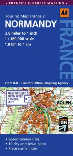 Touring Map Normandy