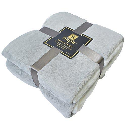 """Napa Super Soft Velvet Plush Throw Blanket 50""""x 70"""", Reversi"""