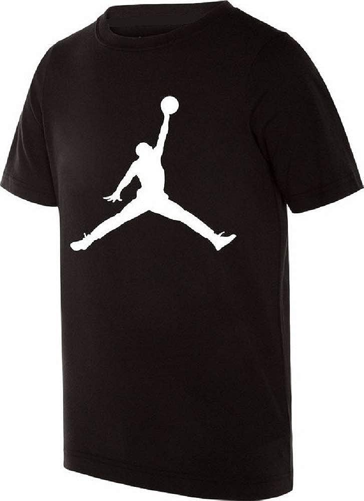 Nike T Shirt Manica Corta Bambino Jordan Nera