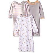Wan-A-Beez Baby 3 Pack Printed Gown - Orange Giraffe, 0-6 Months