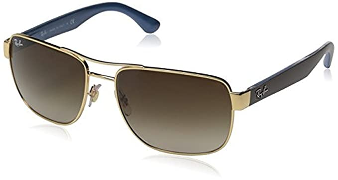 d6d8da836ea Ray-Ban RB3530 Sunglasses Gold Brown Gradient 58mm   Cleaning Kit Bundle