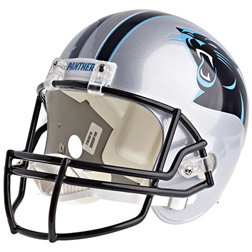 Replica Helmet Panthers Carolina Riddell - Carolina Panthers Officially Licensed VSR4 Full Size Replica Football Helmet