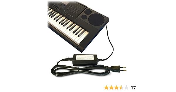 ABC Products® - Adaptador de recambio para sintetizador, teclado, piano Casio, CC 12 V (AD-A12150LW, AD-A12150, Privia Pro)